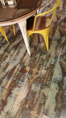 Distressed Wood Flooring Installation